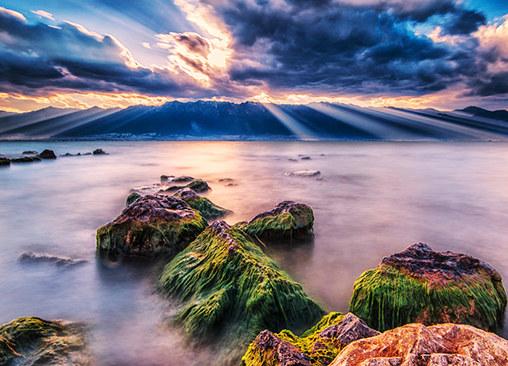 梦中的情人展现不同的美 洱海寻光记